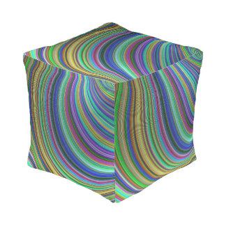Striped fantasy pouf