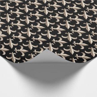 Striped Fleur de lis pattern