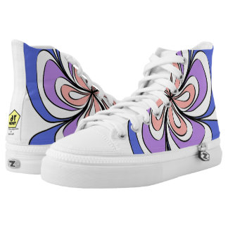 Striped flower high tops