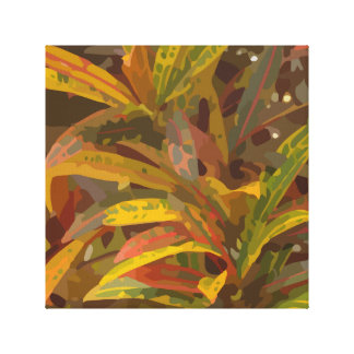 Striped Foliage Canvas Print