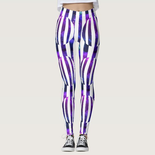 Striped Galactic Globe Leggings
