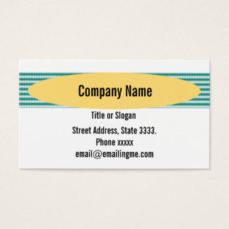 Striped Green Fabric Texture Business Card