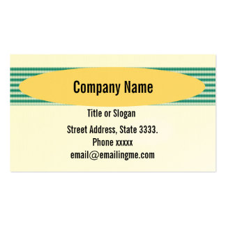 Striped Green Fabric Texture Pack Of Standard Business Cards