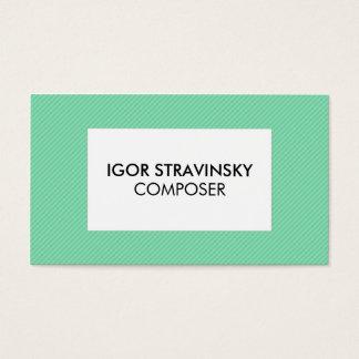 Striped Green Modern Business Card Template