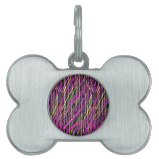 Striped Grunge Pet Tags