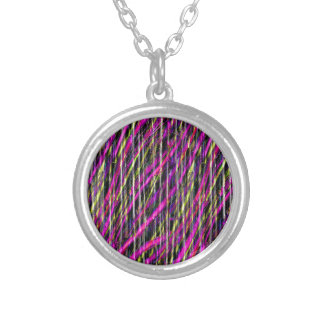 Striped Grunge Silver Plated Necklace