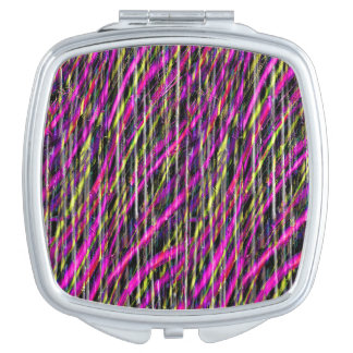 Striped Grunge Travel Mirror