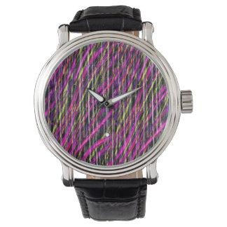 Striped Grunge Wrist Watches