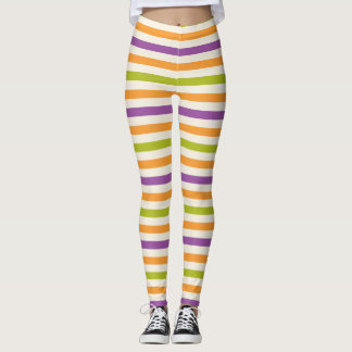 Striped Halloween Inspired Colors Leggings