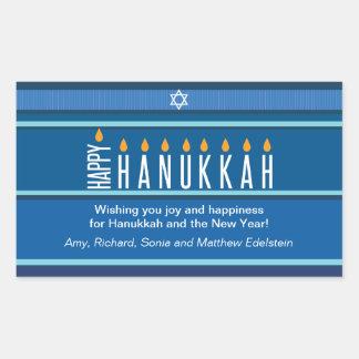 Striped Hanukkah Candles Sticker
