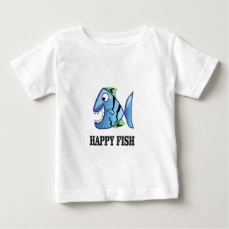 striped happy fish baby T-Shirt