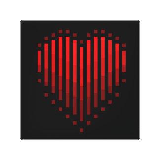 Striped Heart Canvas Print