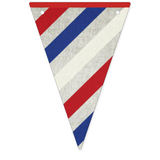 Striped Independence Day Banner Bunting