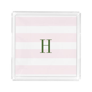 Striped Initial Tray