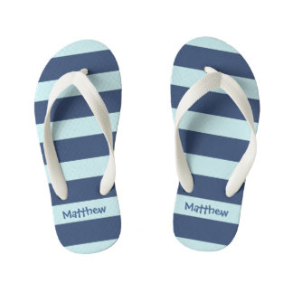 Striped Kids Flip Flops