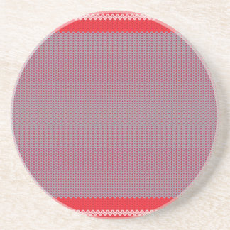 Striped Knitting Background 2 Beverage Coaster