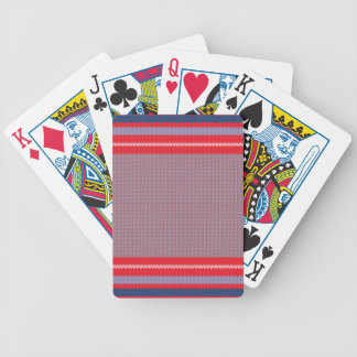 Striped Knitting Background 2 Bicycle Playing Cards