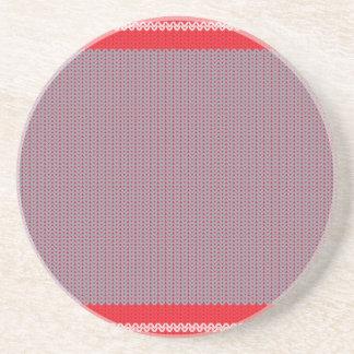 Striped Knitting Background 2 Coaster