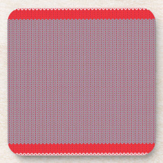 Striped Knitting Background 2 Coaster