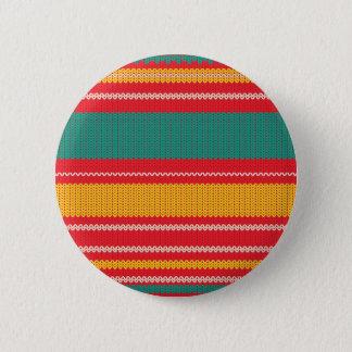 Striped Knitting Background 2 Inch Round Button