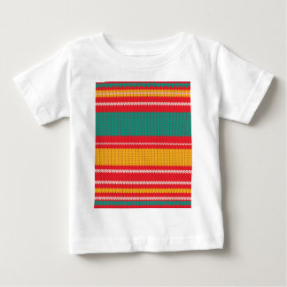 Striped Knitting Background Baby T-Shirt