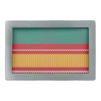 Striped Knitting Background Belt Buckle