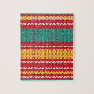 Striped Knitting Background Jigsaw Puzzle