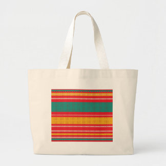 Striped Knitting Background Large Tote Bag