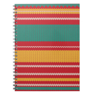 Striped Knitting Background Notebook