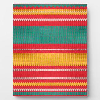 Striped Knitting Background Plaque