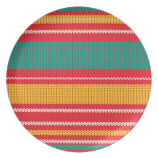 Striped Knitting Background Plate