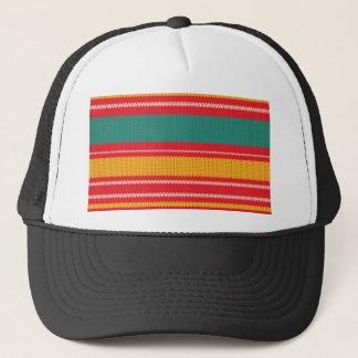 Striped Knitting Background Trucker Hat