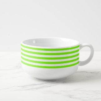 Striped Lawn Green Soup Mug