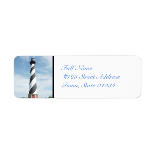 Striped Lighthouse Mailing Labels