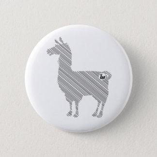 Striped Llama Button