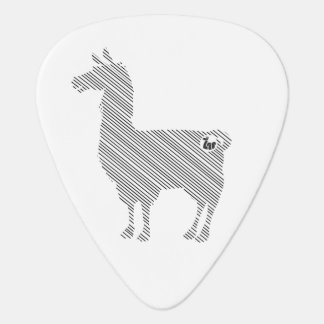 Striped Llama Guitar Pick