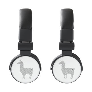 Striped Llama Headphones