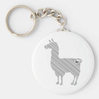 Striped Llama Keychain