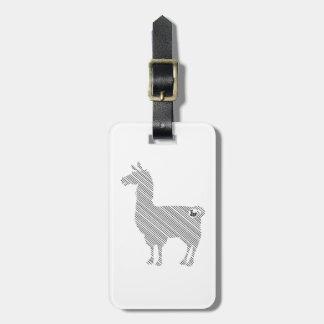 Striped Llama Luggage Tag