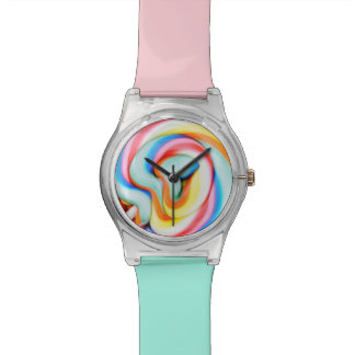 Striped Lollipop And Multicolored Smarties Watch