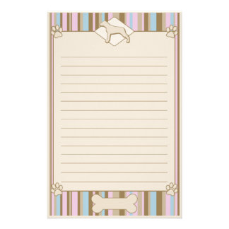 Striped Louisiana Catahoula Leopard Dog Stationery