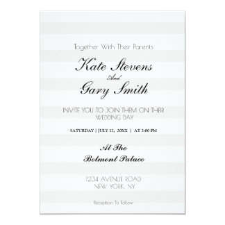 Striped Monogram Wedding Invitation