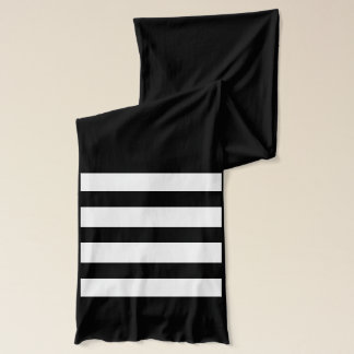 Striped Monogrammed Scarf