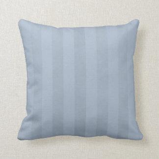 Striped Mottled Light Steel Blue Throw Pillow