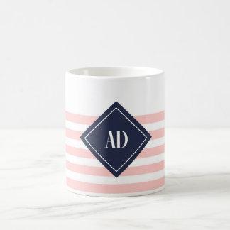 Striped mug with AD losango