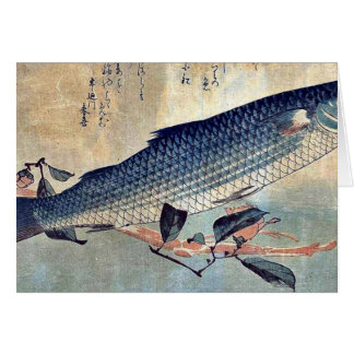 Striped mullet Bora by Ando, Hiroshige Ukiyoe Card