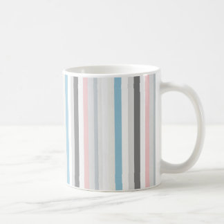 Striped multicolored mug