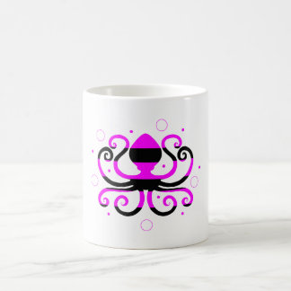 Striped Octopus Coffee Cup