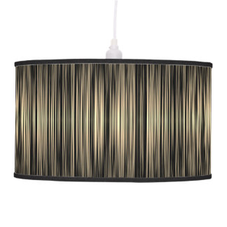 Striped pattern pendant lamp