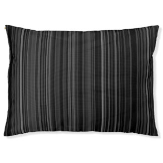 Striped Pattern Print Stripes Black Grey Gray Pet Bed